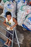 Smiling local boy on the Amazon River, Brazil Stock Image