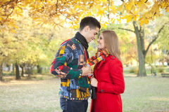 Smiling love couple in romantic time Stock Image