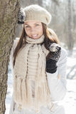 Smiling Lovely Young Woman Winter Portrait Royalty Free Stock Image