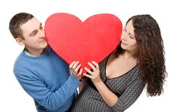 Smiling Loving Couple Tenderly Looking Royalty Free Stock Photos