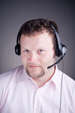 Smiling male customer service operator in headset Royalty Free Stock Photos