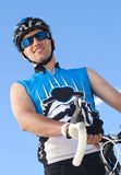 Smiling Male Cyclist Stock Photos