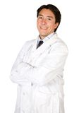 Smiling male doctor on white Stock Photo