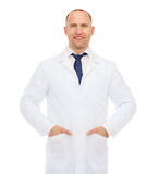 Smiling male doctor in white coat Royalty Free Stock Photo