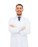Smiling male doctor in white coat Royalty Free Stock Photography
