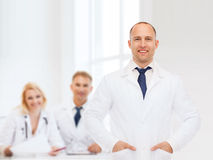 Smiling male doctor in white coat Royalty Free Stock Image