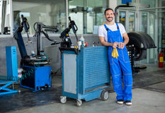 Smiling male engineer Royalty Free Stock Images