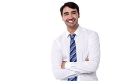 Smiling male executive posing with confidence Stock Images
