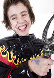 Smiling male teenager in Halloween costume Royalty Free Stock Photography