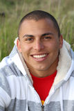 Smiling Man. Attractive young Hispanic man outdoor portrait Royalty Free Stock Photos