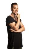 Smiling man against white background Stock Photos