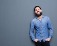 Smiling man with beard Royalty Free Stock Images