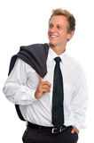 Smiling man with business suit in studio Stock Photos
