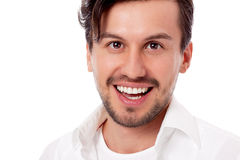 Smiling man in casual business outfit isolated Royalty Free Stock Images