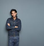 Smiling man in casual clothes Royalty Free Stock Images