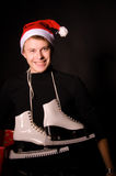 Smiling man in christmas hat Royalty Free Stock Photography