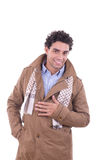 Smiling man in the coat Royalty Free Stock Photo