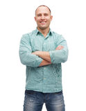 Smiling man with crossed arms Royalty Free Stock Image