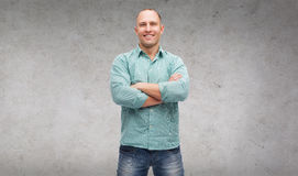Smiling man with crossed arms Royalty Free Stock Images