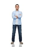 Smiling man with crossed arms Royalty Free Stock Photography