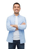 Smiling man with crossed arms Stock Photography