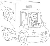 Truck driver delivering goods Royalty Free Stock Photography