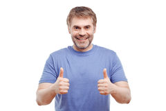 Smiling man expressing positivity Royalty Free Stock Photography