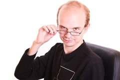 Smiling man with glasses Stock Photography