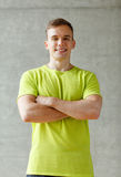 Smiling man in gym Royalty Free Stock Images