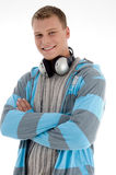 Smiling man with headphone Stock Photos
