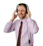 Smiling man with headset Royalty Free Stock Image