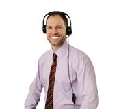 Smiling man with headset Stock Image