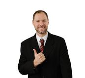 Smiling man hold thumb up Royalty Free Stock Photo