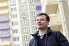 Smiling Man In Residential Area Stock Photos