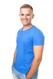 Smiling man isolated on white background stock images