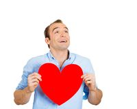Smiling man in love Royalty Free Stock Images
