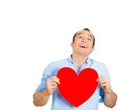 Smiling man in love Stock Images