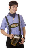 Smiling man with Oktoberfest beer stein (Mass) Royalty Free Stock Photography