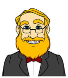Smiling man with orange beard Royalty Free Stock Photo