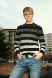 Smiling man at park Royalty Free Stock Photo