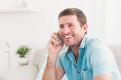 Smiling man on a phone Stock Photos