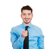 Smiling man pointing Royalty Free Stock Image