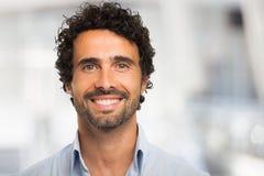 Smiling man portrait Stock Images