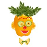 Smiling man portrait made of vegetables Royalty Free Stock Photography