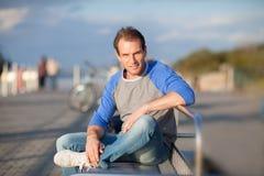 Smiling man portrait. Outdoor shoot Stock Image