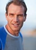 Smiling man portrait. Outdoor shoot Stock Photo