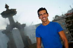 Smiling man portrait in urban background Royalty Free Stock Photography