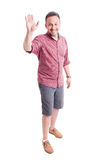 Smiling man ready for high five Royalty Free Stock Image