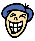 Smiling man's head. Vector illustration of a cartoon man's head and face with a big toothy smile Stock Image