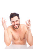 Smiling man without shirt Royalty Free Stock Photos